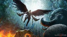Kratos God of War 4 Art Wings Monster Fantasy Wallpaper
