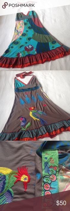 DESIGUAL DRESS. Beautiful Dress from Desigual. Size medium. 35 inches length. Cotton. Desigual Dresses