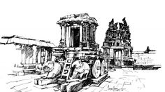 Hampi is not just a photographer's delight. See excellent work by Jayesh Sivan, an artist.