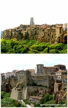 Village of Pitigliano, Italy... This Tuscan town goes all the way back to the Etruscan times (about 800 B.C.) but only has an official mention in the records in 1061.