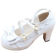 Partiss Damen Gothic Lolita High-top Casual Schuhen PU Pumps Herbst Fruehling Hochzeit Tanzenball Maskerade Cosplay Bowknots Kreuz Platform Pumps Lolita Shoes,CN35,White Partiss http://www.amazon.de/dp/B01DW2400S/ref=cm_sw_r_pi_dp_e0nbxb0KG303C