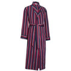 Derek Rose Regimental RAF Dressing Gown - Red | Red Dressing Gown | KJ Beckett