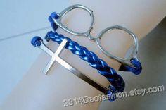 God bless bracelets glasses bracelets leather by 2014daofashion, $3.99