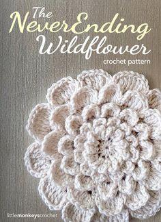 The NeverEnding Wildflower Crochet Pattern   Free Crochet Pattern by Little Monkeys Crochet (www.littlemonkeyscrochet.com)