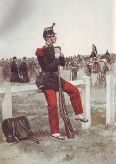 French Army 1900 Infantr Soldier in Parade Uniform by Édouard Detaille