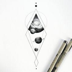 "1,882 Likes, 39 Comments - Amanda Piejak (@amanda_piejak) on Instagram: ""kosmo #universetattoo #cosmos #planetstattoo #black #drawing #dots #illustration #artwork…"""
