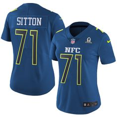 Nike Bears #71 Josh Sitton Navy Women's Stitched NFL Limited NFC 2017 Pro Bowl Jersey And nfl jersey near me