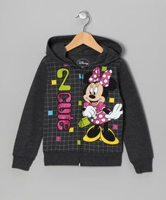 Take a look at this Gray Minnie '2 Cute' Zip-Up Hoodie by Disney on #zulily today!