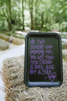 DIY Wedding Sign - Wish I had this sign while still a wedding coordinator at my church! PERFECT