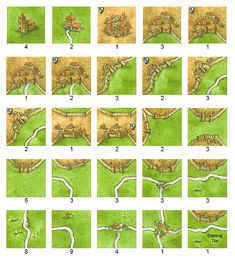 game terrain tile | Gone Gaming: Anatomy of a Game: Carcassonne, Part Two: Balance & Tiles