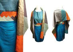 Silk Set Etuikleid mit Stola INDIAN MOVE