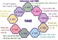 collocations with take - B1-B2