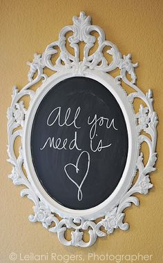 ikea frame, #chalkboard #writing