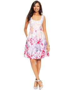American Living Sleeveless Floral-Print Dress - Dresses - Women - Macy's