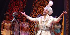 CLIFTON DAVIS as the Sultan on ''Aladdin on Broadway''