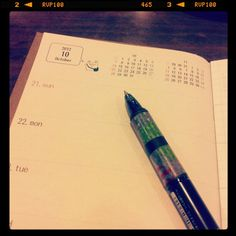 """配布希望… -""""自分用にトラベラーズノートのサイズで今日から今年までの週間スケジュール帳を作ってみました〜。"""""""