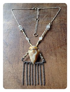 Wire Wrapped Arrowhead Necklace with Quartz by ChakraBootyJewelry