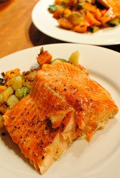 Grilled Steelhead Trout with Sweet Potato Hash