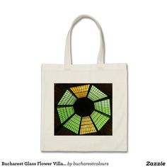 Bucharest Glass Flower Villacrose Passage Tote Budget Tote Bag