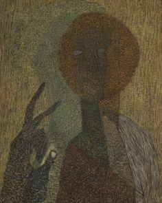 Vajda Lajos (1908-1941) - Felmutató ikonos önarckép