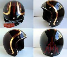 BILTWELL Novelty Helmets - OLD SCHOOL HELMETS & Custom Paint
