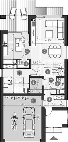 Projekt domu Dostępny 5 135,5 m2 - koszt budowy - EXTRADOM Floor Plans, House, Haus, Houses, Floor Plan Drawing, Home, House Floor Plans, Homes