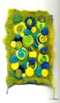 before | small piece of felt in the 'yellow to blue' colours… | Flickr