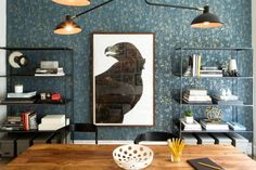 See inside photographer Christian Oth's New York Office and showroom featuring beautiful wallpaper and interior design.