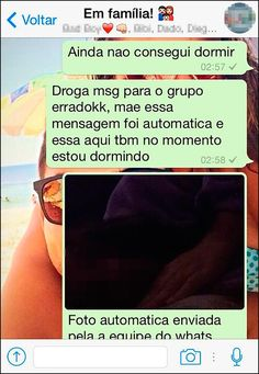by: equipe do whatsapp! Funny Pins, Funny Memes, Jokes, Text Fails, Try Not To Laugh, Just Smile, Good Thoughts, Funny Cute, Texts