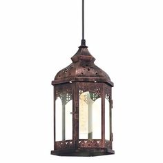 Eglo 49224 Redford Copper Vintage Moroccan Lantern Pendant The Eglo 49224 is part of the Pendant Lighting vintage trend range from Eglo UK Lighting. Buy Eglo Redford 49224 finished in Copper Coloured. Bathroom Pendant Lighting, Lantern Pendant Lighting, Flush Lighting, Flush Ceiling Lights, Clear Glass Pendant Light, Rope Pendant Light, Pendant Lamp, Cream Table Lamps, Lampe Metal