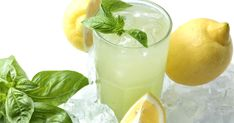 Lemonade made even more refreshing with the addition of muddled basil and vodka! Cocktail Drinks, Alcoholic Drinks, Cocktails, Ice Cream Drinks, Basil Lemonade, Citrus Vodka, Homemade Liquor, Menu, Best Dishes