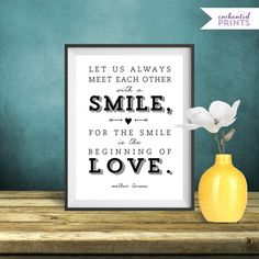 Mother Teresa Quote Print Printable art wall por EnchantedPrints, $4.99