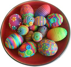 polymer clay decorated eggs...very fun!