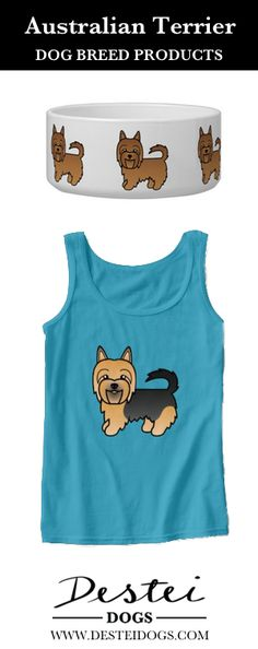Cute Cartoon Australian Terrier Dog Breed Products By Destei Dogs #australianterrier #terrier #dog #cutedoggifts #dogproducts #doggifts #fordogowner #fordoglover #doglover #dogperson