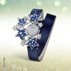 Stars are the jewels of the night. Microtesserae are the precious elements which enhance the shades of blue and black of our Etoile timepiece Shades Of Blue, Jewels, Stars, Accessories, Watches, Night, Black, Fashion, Schmuck