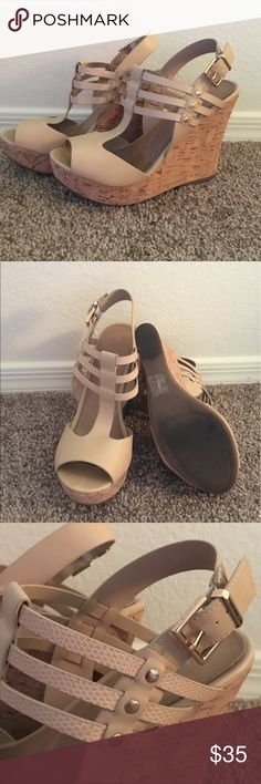 """Beige Aldo Wedge Good condition. 5"""" Wedge. Comes with box. Aldo Shoes Wedges"""