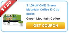 $1.00 off ONE Green Mountain Coffee K-Cup packs New coupons and deals for active seniors daily at www.SeniorSpotChicago.com