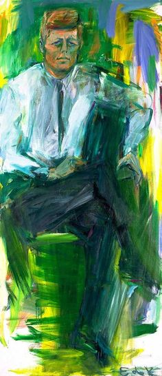 In 1962,  de Kooning was commissioned by the White House to paint the portrait of President John F. #Kennedy. The portrait is one of de Kooning's most well known and celebrated paintings.
