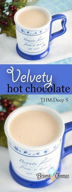 Vanilla Butter Hot Chocolate...low carb and sugar free, and to drink bulletproof style. This creamy hot chocolate is full of taste and it's a great keto treat.