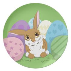 Easter Bunny Party Plates