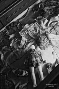 Block 5. Clothes and a toy which belonged to childred deported to Auschwitz.