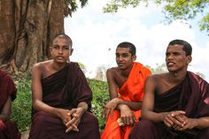 I love the variety of expressions these monks have (Anuradhapura, Sri Lanka)