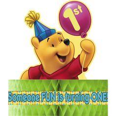 Pooh`s First Birthday Centerpiece