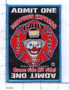 Indiana - Gary Engine 2 IN Fire Dept Fire Patch - Station 2 - Midtown Midway in Collectibles, Historical Memorabilia, Firefighting & Rescue | eBay
