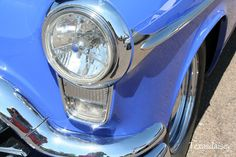 What a bright color and so pretty on a classic car