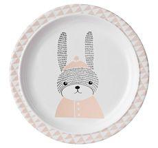 Bloomingville NEU Melamin-Teller Sophia Rabbit Nude 22cm