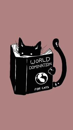 world domination. for cats - Cats - Wallpaper Crazy Cat Lady, Crazy Cats, I Love Cats, Cute Cats, Cat Phone Wallpaper, Screen Wallpaper, Wallpaper Iphone Vintage, Wallpaper Tumblr Lockscreen, Cute Cat Wallpaper