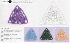 Una nueva ración de los triángulos de crochet con esquemas.