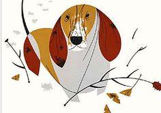 Basset Hound by Charley Harper (dreamdogsart.typepad.com)