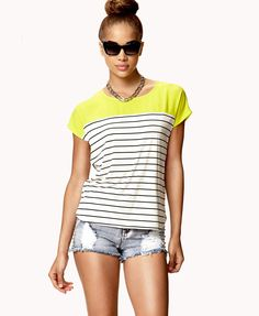 Striped Combo Tee | FOREVER21 - 2053342256